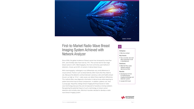 First-to-Market Radio-Wave Breast Imaging System Achieved with Network Analyzer
