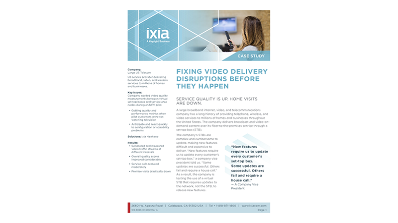 Fixing Video Disruptions Before They Happen