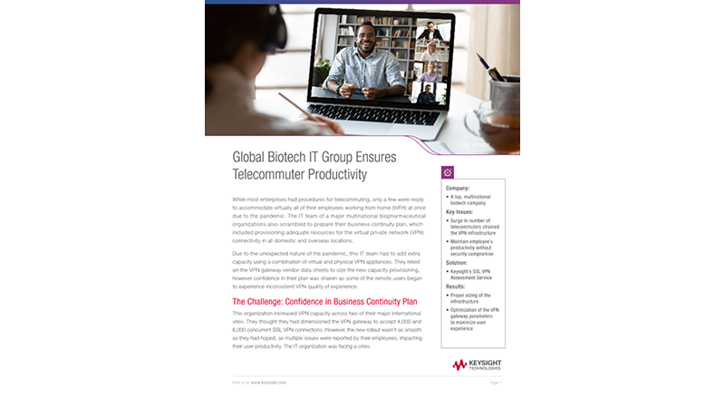 Global Biotech IT Group Ensures Telecommuter Productivity