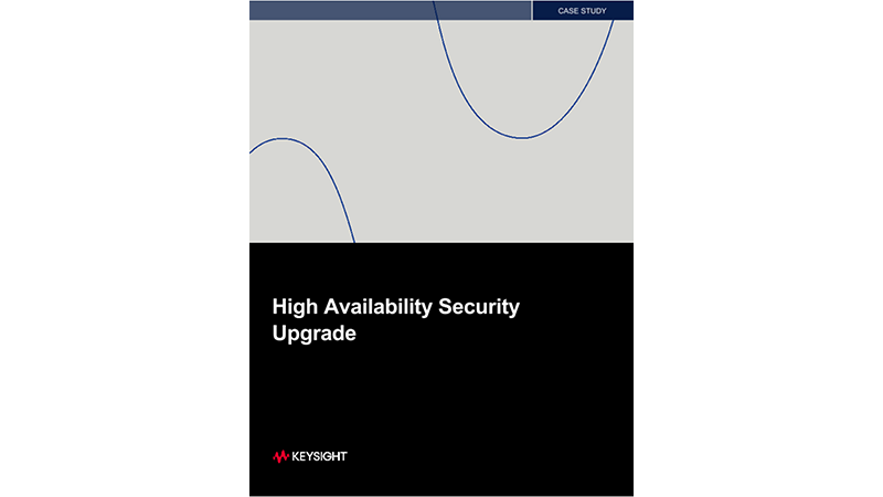 High Availability Security Upgrade