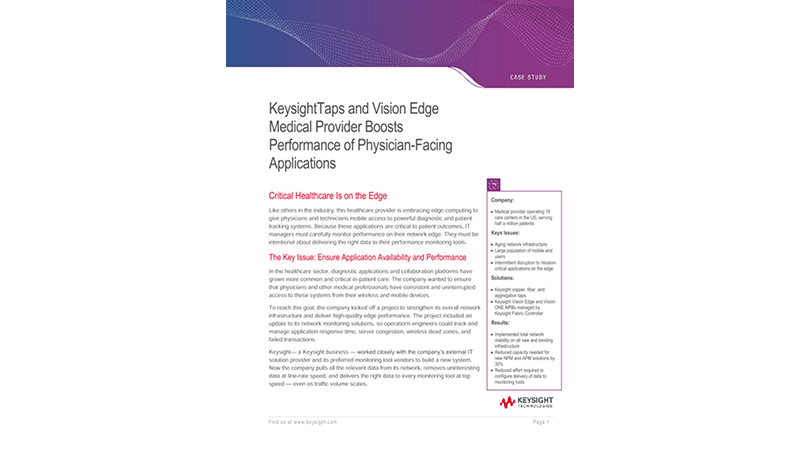 Medical Provider Boosts Performance of Physician-Facing Applications