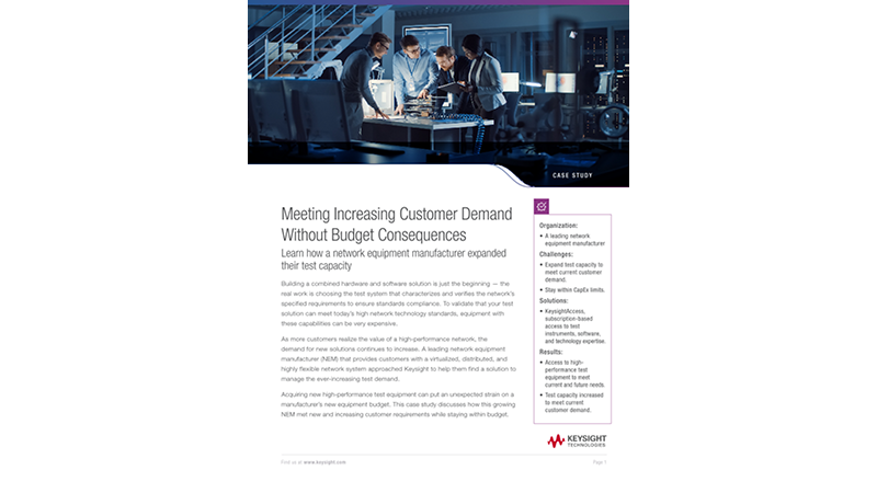 Meeting Increasing Customer Demand Without Budget Consequences