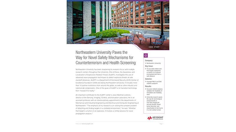 Northeastern University Paves the Way for Novel Safety Mechanisms for Counterterrorism and Health Screening