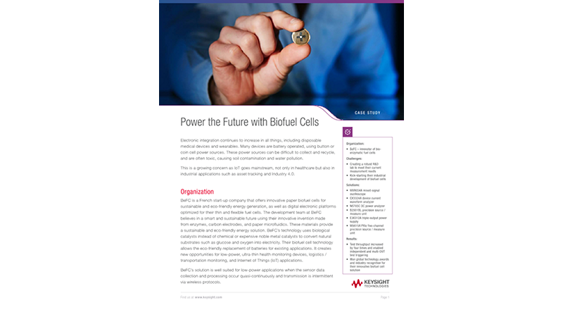 Power the Future with Biofuel Cells