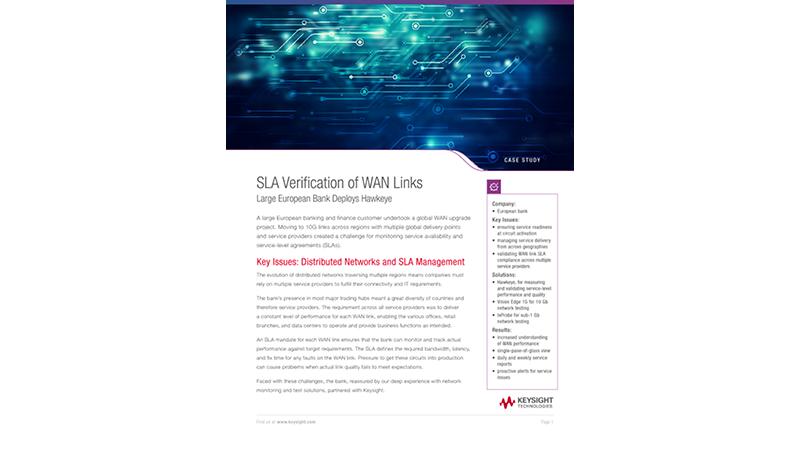 SLA Verification of WAN Links