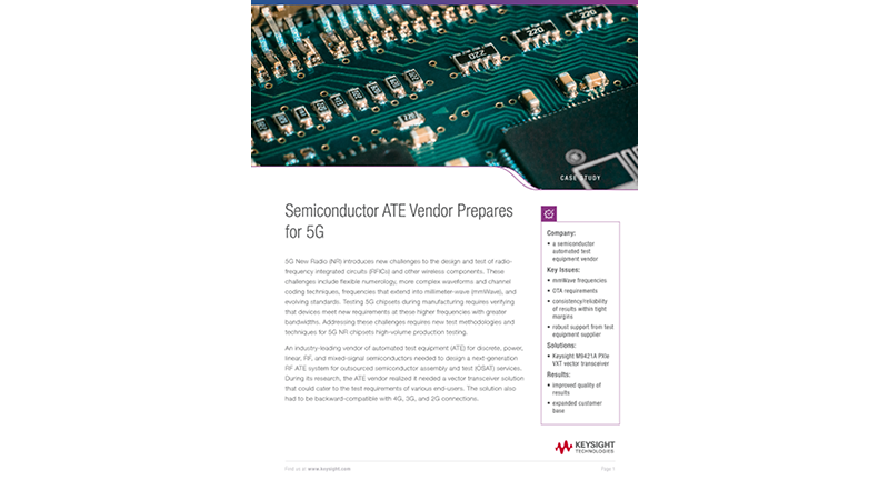 Semiconductor ATE Vendor Prepares for 5G