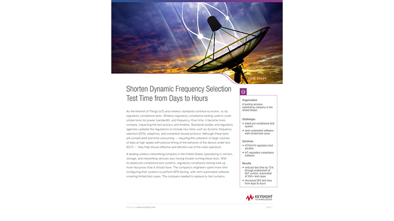 Shorten Dynamic Frequency Selection Test Time from Days to Hours