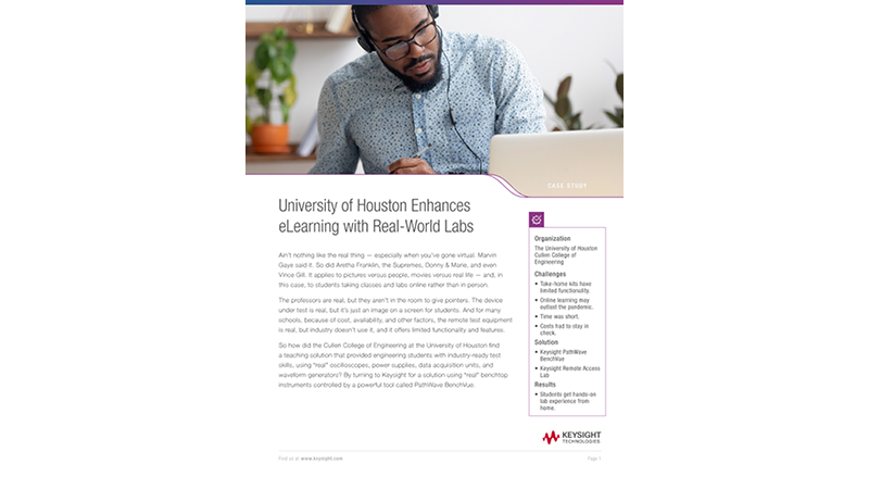 University of Houston Enhances eLearning with Real-World Labs