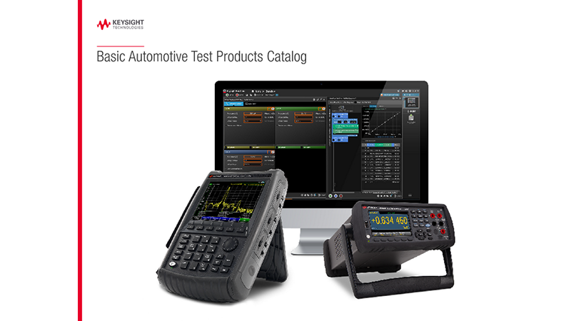 Basic Automotive Test Products Catalog