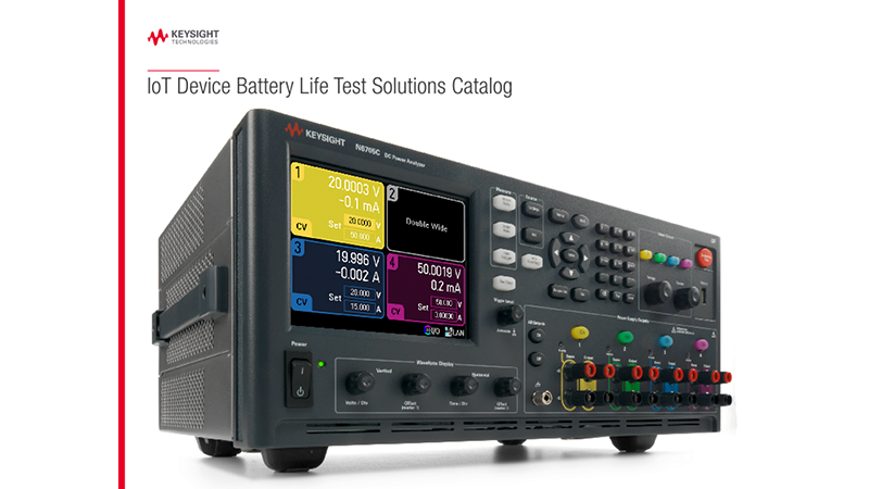 IoT Device Battery Life Test Solutions Catalog