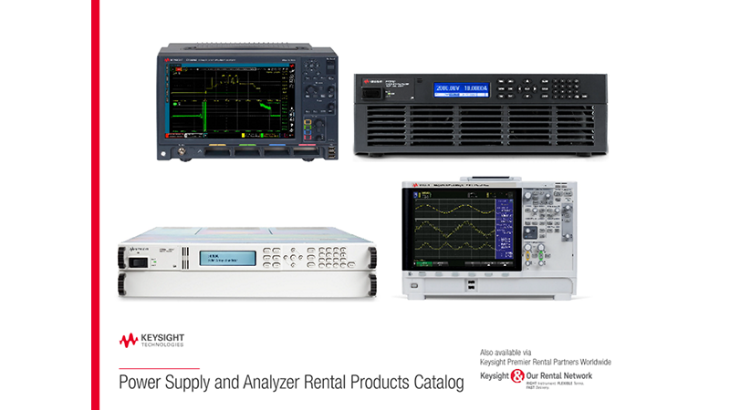Power Supply and Analyzer Rental Products Catalog
