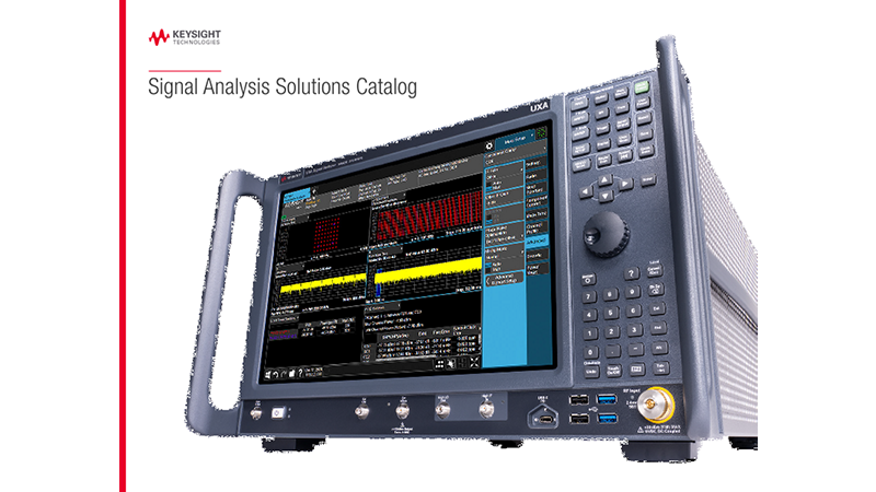 Signal Analysis Solutions Catalog