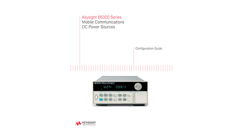 66300 Series Mobile Communications DC Power Sources