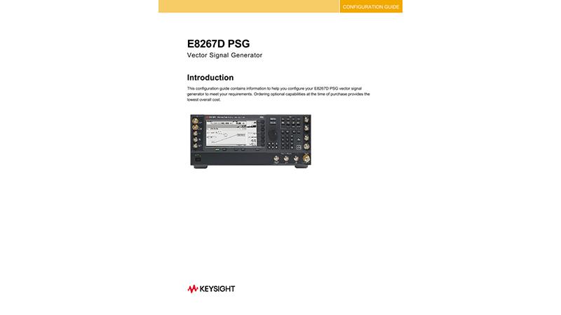 E8267D PSG Vector Signal Generator