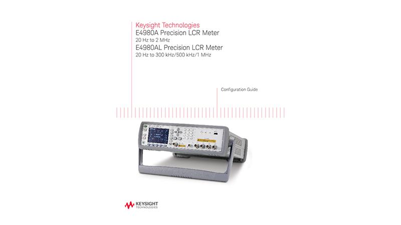 E4980A/E4980AL Precision LCR Meters