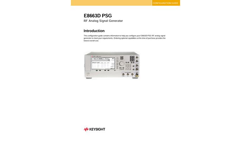 E8663D PSG RF Analog Signal Generator