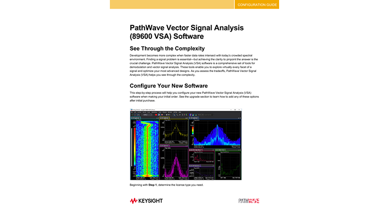 PathWave Vector Signal Analysis (89600 VSA) Software