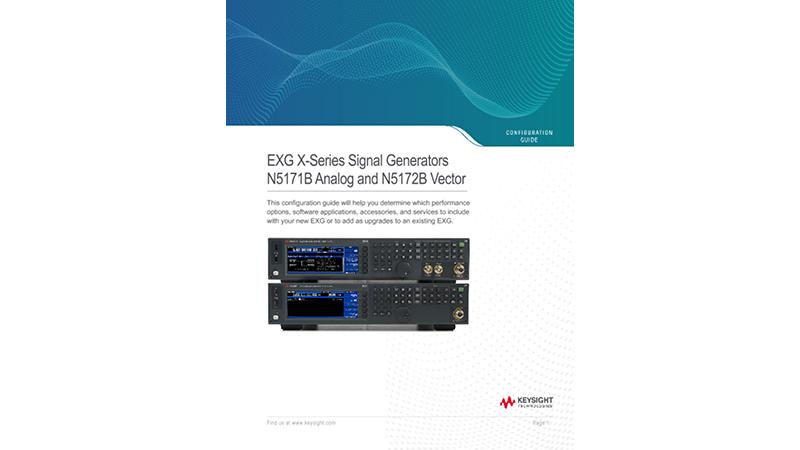 EXG X-Series Signal Generators N5171B Analog and N5172B Vector