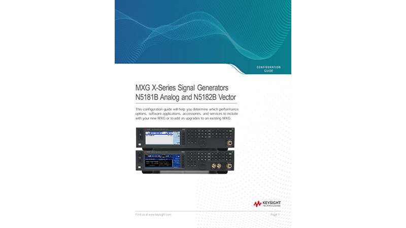 MXG X-Series Signal Generators N5181B Analog and N5182B Vector