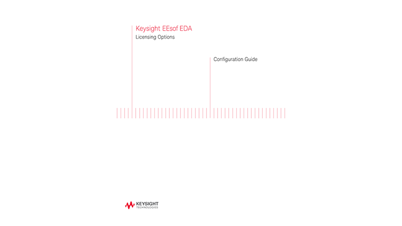 Keysight EEsof EDA Licensing Options