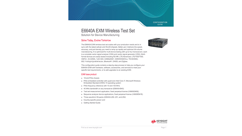 E6640A EXM Wireless Test Set