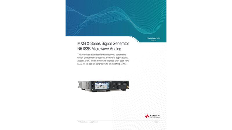 MXG X-Series Signal Generator N5183B Microwave Analog