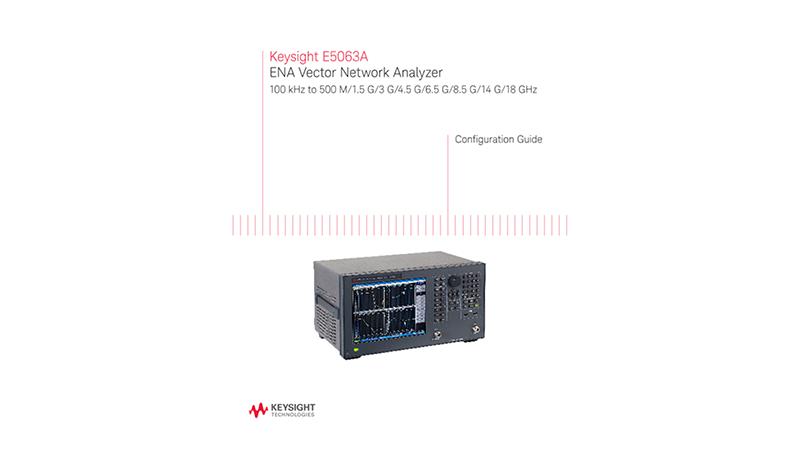 E5063A ENA Vector Network Analyzer