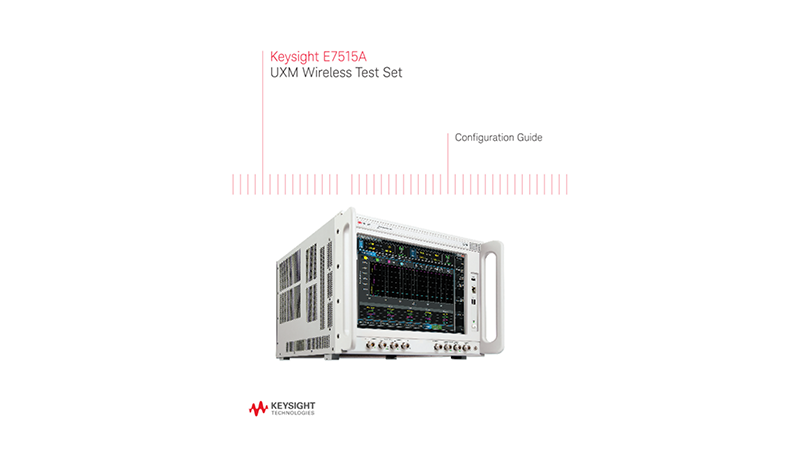 E7515A UXM Wireless Test Set