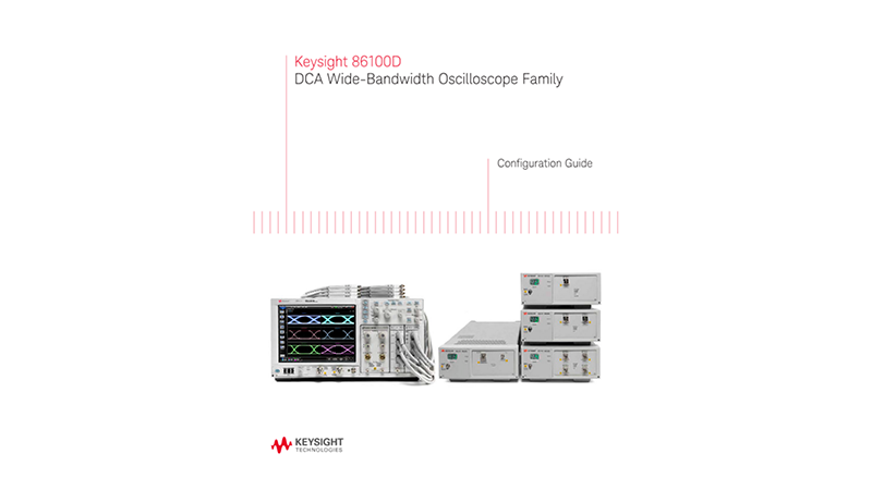 86100D DCA Wide-Bandwidth Oscilloscope Family