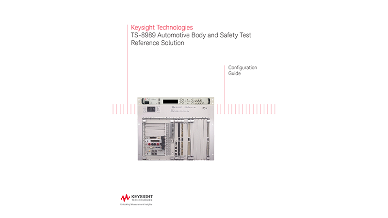 TS-8989 Automotive Body and Safety Test Reference Solution – Configuration Guide