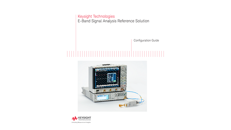 E-Band Signal Analysis Reference Solution