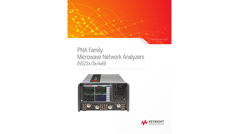 PNA Family Microwave Network Analyzers (N522x/3x/4xB)
