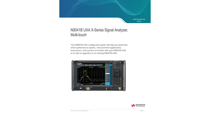 N9041B UXA X-Series Signal Analyzer, Multi-touch