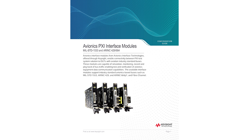PXI Avionics Bus Interface Cards