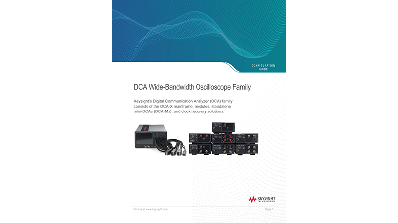 DCA Wide-Bandwidth Oscilloscope Family