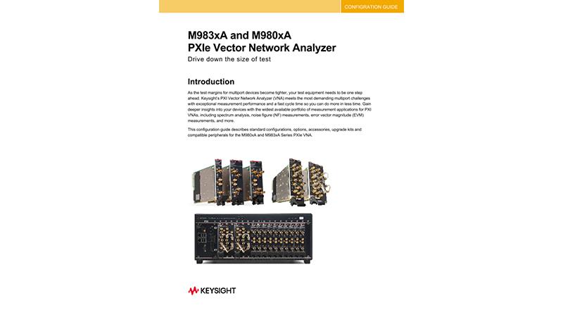 M980xA Series PXIe Vector Network Analyzer