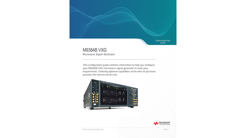 M9384B VXG Microwave Signal Generator