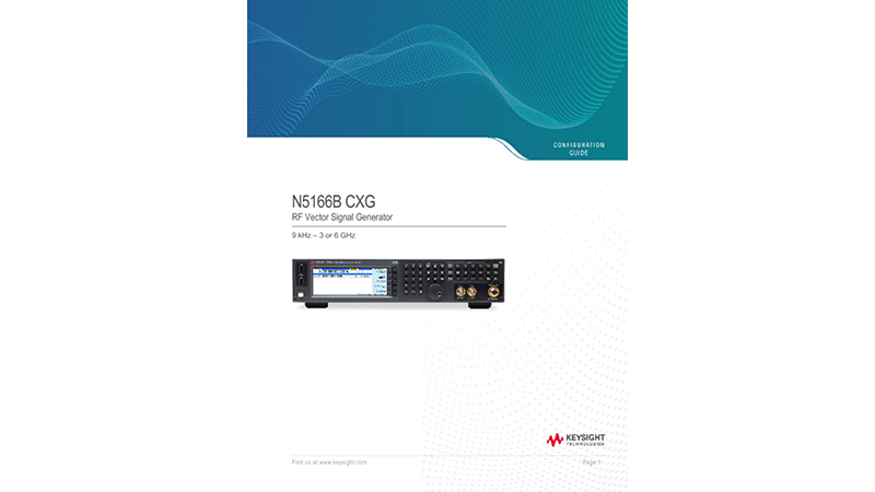 N5166B CXG RF Vector Signal Generator