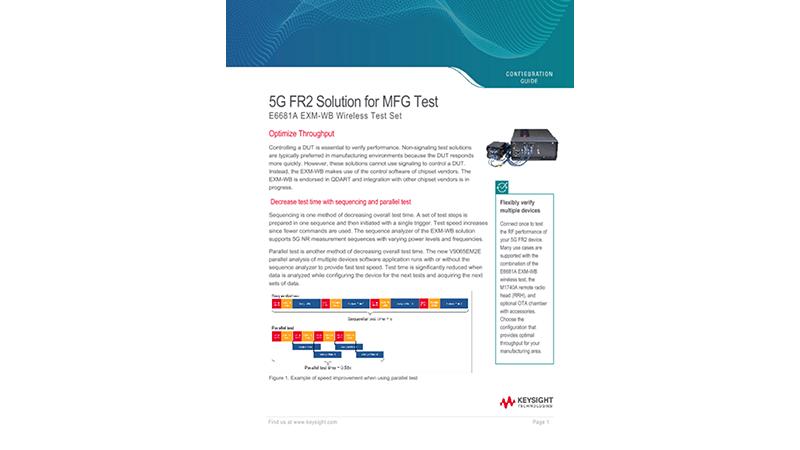 5G FR2 Solution for MFG Test
