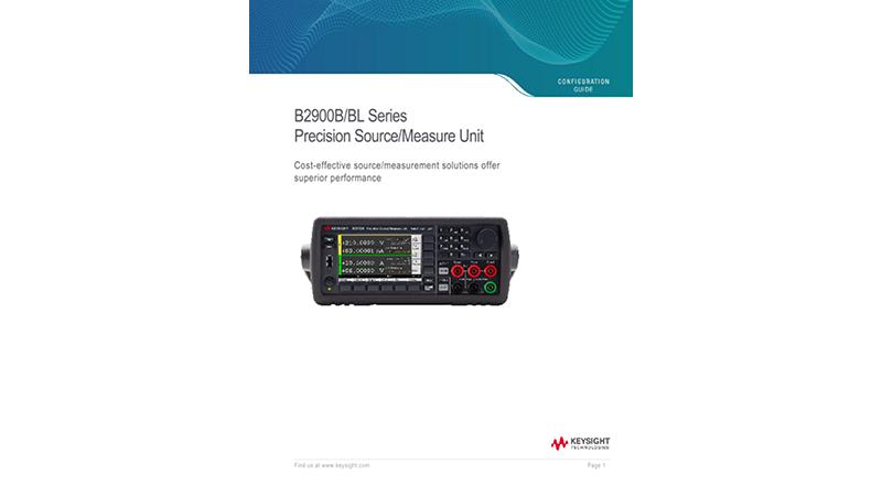 B2900B/BL Series Precision Source/Measure Unit