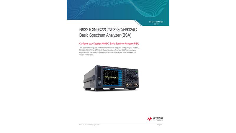 N9321C/N9322C/N9323C/N9324C Basic Spectrum Analyzer (BSA)