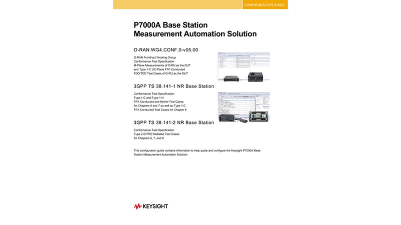 P7000A Base Station Measurement Automation Solution