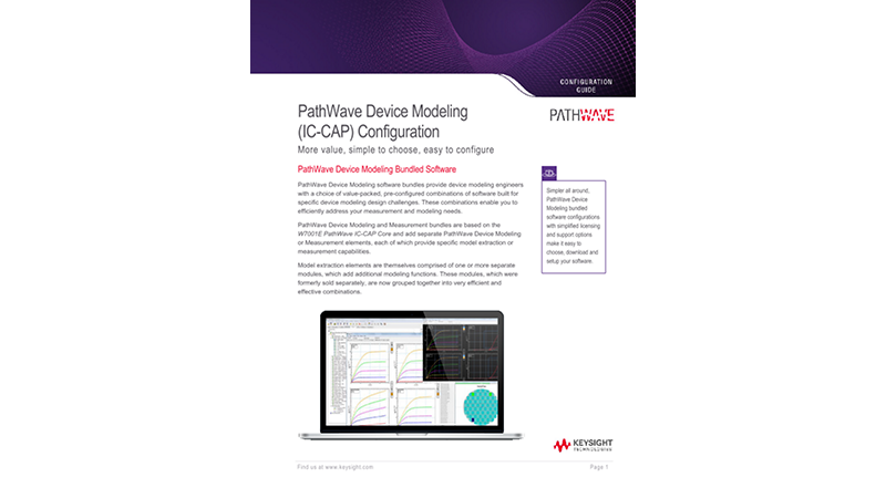PathWave Device Modeling (IC-CAP) Configuration