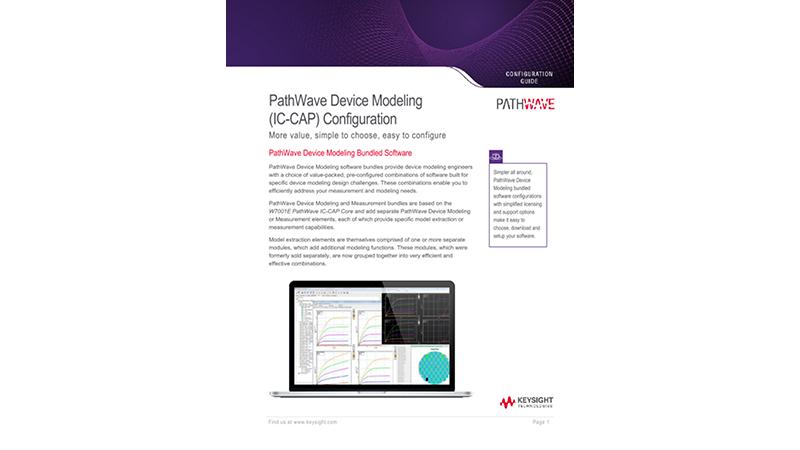 PathWave Device Modeling (IC-CAP) Configuration