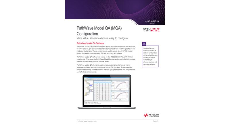 PathWave Model QA (MQA) Configuration