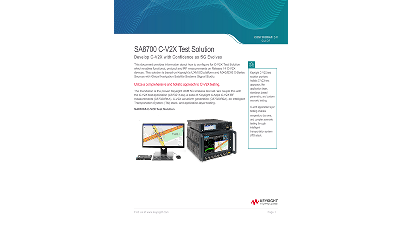 SA8700 C-V2X Test Solution Develop C-V2X with Confidence as 5G Evolves