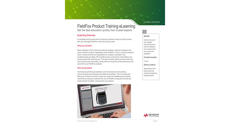 FieldFox Product Training eLearning