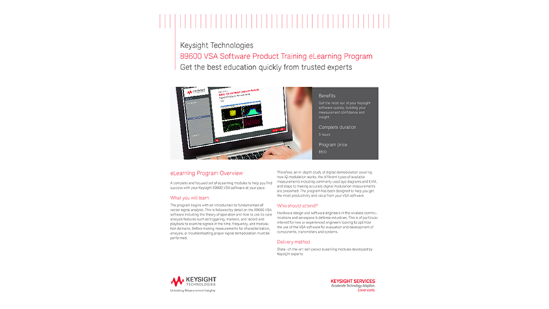 89600 VSA Software Product Training eLearning Program - Course Overview