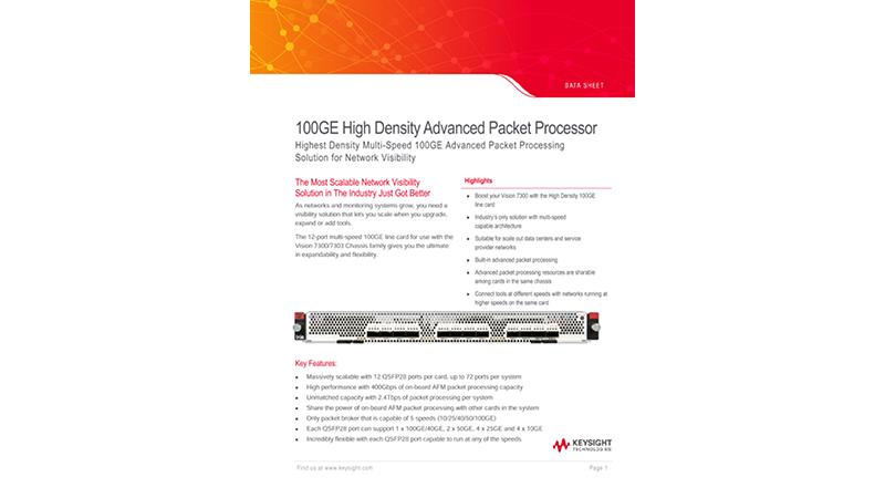 100GE High Density Advanced Packet Processor