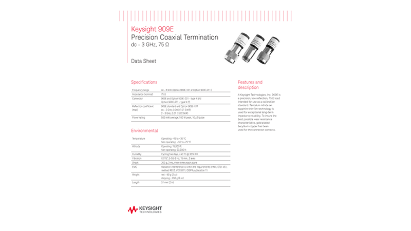 909E Precision Coaxial Termination